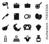16 vector icon set   mixer  pan ...   Shutterstock .eps vector #743013268
