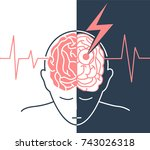 concept of the disease is a... | Shutterstock .eps vector #743026318