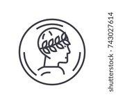roman emperor profile concept... | Shutterstock .eps vector #743027614