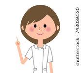 nurse finger pointing | Shutterstock .eps vector #743036530
