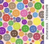 buttons seamless pattern | Shutterstock .eps vector #743036698