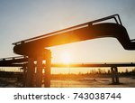 gas pipeline in the background... | Shutterstock . vector #743038744