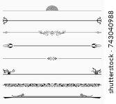 decorative dividers  set 37  | Shutterstock .eps vector #743040988