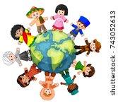 vector illustration of... | Shutterstock .eps vector #743052613