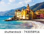 scenic mediterranean riviera...   Shutterstock . vector #743058916