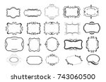 fancy frames and borders | Shutterstock .eps vector #743060500