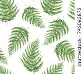 watercolor seamless pattern of... | Shutterstock . vector #743062873
