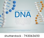 abstract  colorful  medical... | Shutterstock .eps vector #743063650