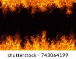 Hot Fire Burning Frame...