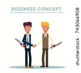 business concept. two... | Shutterstock .eps vector #743066908