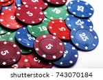 Small photo of A lot of poker chips. Poker game. Card game.