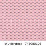 pink background polka dot....