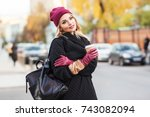 outdoors lifestyle fashion... | Shutterstock . vector #743082094