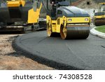 road roller machine works on... | Shutterstock . vector #74308528