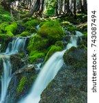 Waterfalls in Mount Rainier National Park near Spray Park in Washington state