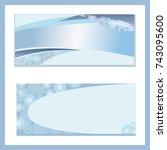 template for christmas notebook | Shutterstock .eps vector #743095600