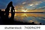 Sunset Grand Lake  Grove...