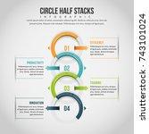 vector illustration of circle... | Shutterstock .eps vector #743101024