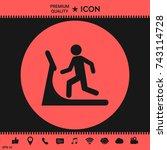 man on treadmill icon | Shutterstock .eps vector #743114728