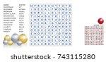 christmas crossword   find the... | Shutterstock .eps vector #743115280