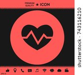 heart medical icon | Shutterstock .eps vector #743116210