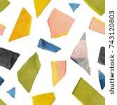 abstract watercolour artistic... | Shutterstock . vector #743120803