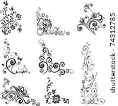 collection of design elements... | Shutterstock .eps vector #74312785