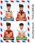 barber shop | Shutterstock .eps vector #743128828
