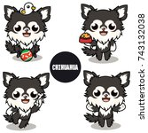 character design of black... | Shutterstock .eps vector #743132038