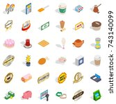 drink coffee icons set.... | Shutterstock . vector #743140099