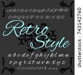 vector set of handwritten... | Shutterstock .eps vector #743142760