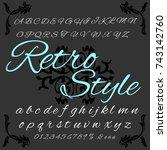 vector set of handwritten... | Shutterstock .eps vector #743142760