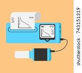 spirometer medical equipment.... | Shutterstock .eps vector #743151319
