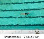 icebergs saltwater pool | Shutterstock . vector #743153434