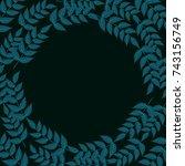 green leaves branch natural... | Shutterstock .eps vector #743156749