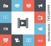 set of 13 editable cinema icons....