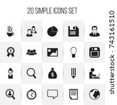 set of 20 editable bureau icons....