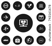 set of 13 editable mixed icons. ...