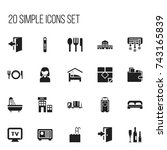 set of 20 editable travel icons....