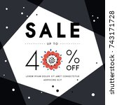 sale banner template design....   Shutterstock .eps vector #743171728