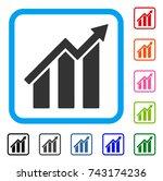 growth chart icon. flat grey...