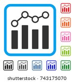point chart icon. flat gray... | Shutterstock .eps vector #743175070