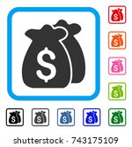 funds icon. flat grey pictogram ...