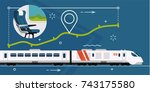 vector concept illustration on... | Shutterstock .eps vector #743175580