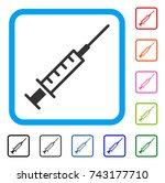 syringe icon. flat gray...