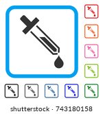 pipette icon. flat gray... | Shutterstock .eps vector #743180158