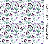 seamless decorative pattern... | Shutterstock .eps vector #743183590