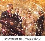 happy beautiful couples...   Shutterstock . vector #743184640