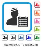 patient appointment calendar... | Shutterstock .eps vector #743185228