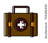 medical first aid suitcase | Shutterstock .eps vector #743186350
